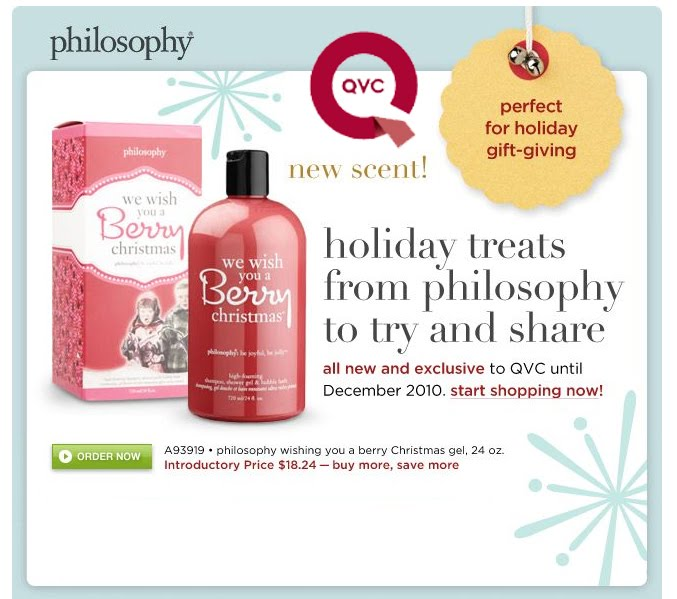 New philosophy gifts only at qvc spoiled pretty